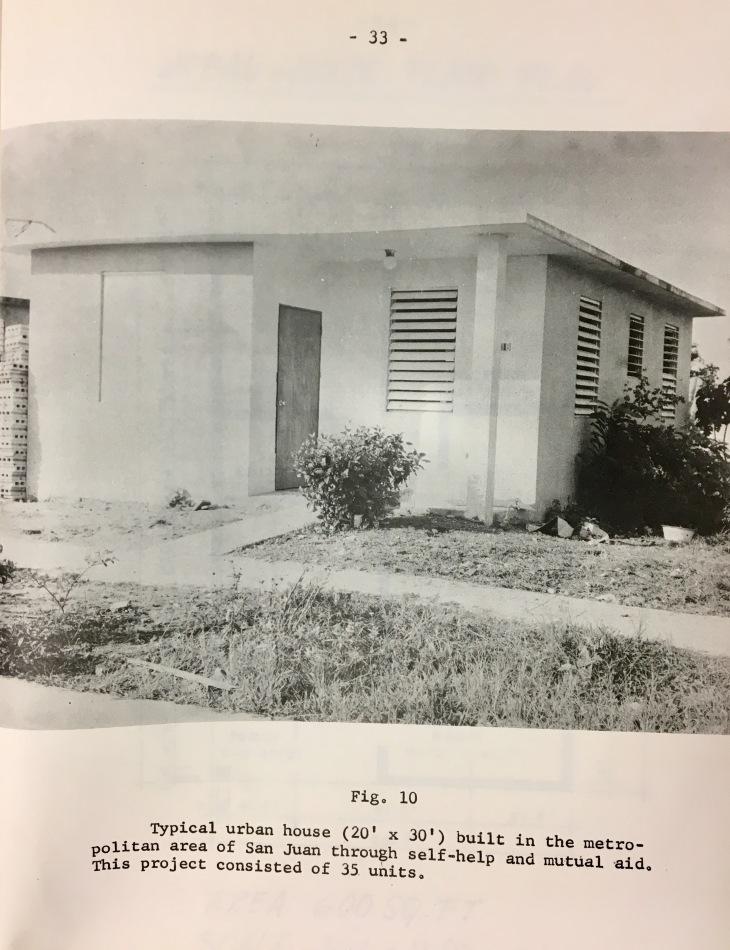 casa urbana de ayuda mutua Pag 33 del libro de Luis Rivera Santos de 1959 sobre Self-help program
