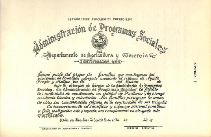 Certificado de participación Ayuda Mutua libro de Calcerrada