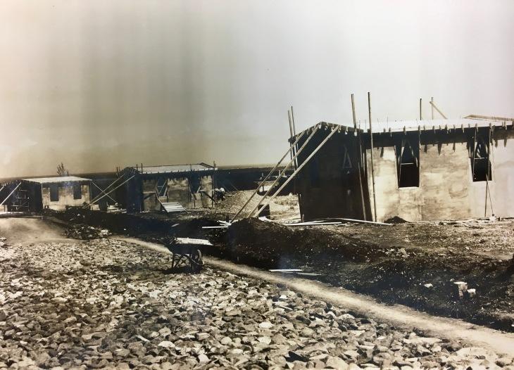 Construcción de casas en el barrio real de Patillas. 1938