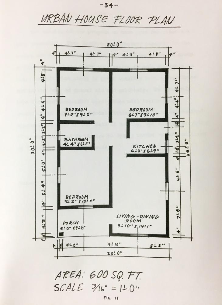 Plano Urban House de Ayuda Mutua en libro Rivera Santos